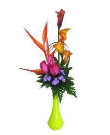 Af2 Arreglo Floral De Calas Y Rosas Adornadas Desde 2492